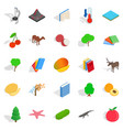 care of flora icons set isometric style vector image vector image