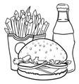 cartoon image of junk food cola drink vector image vector image