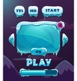 Cartoon winter game user interface vector image vector image