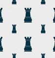 Chess Rook sign Seamless pattern with geometric vector image