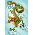 Chinese dragon painting vector image
