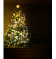 christmas tree lights on black vector image