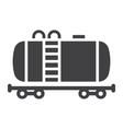 cistern oil train glyph icon logistic delivery vector image