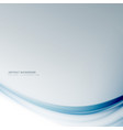 clean gray background with blue wave vector image vector image