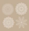 collection decorative mandala designs vector image vector image