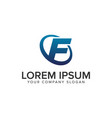 creative modern letter f logo design concept vector image vector image