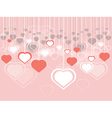 Decorative Hearts Background vector image vector image