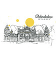 drawing sketch dolmabahce istanbul vector image