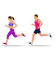 early morning workout living healthy lifestyle vector image