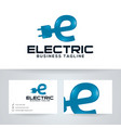 electric energy logo vector image vector image