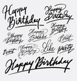 event and happy birthday hand written typography vector image vector image