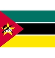 Flag of Mozambique in correct size colors vector image vector image