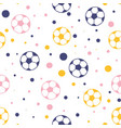 footballs and confetti and confetti seamless vector image vector image