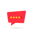 four abstract rating star like positive feedback vector image