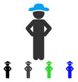 gentleman akimbo flat icon vector image vector image