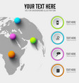 global web infographic template vector image vector image