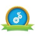 Gold mechanism logo vector image vector image
