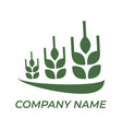 green agro icon template for your company logo