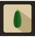 Green zucchini vegetable icon flat style vector image vector image