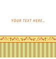 greeting card with free place for text vector image vector image