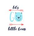 hand drawing a cute bear vector image vector image