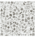Hand Drawn Artistic Christmas Doodles Clip vector image vector image