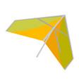 hang glider cartoon vector image