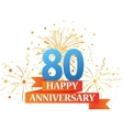 Happy anniversary celebration with fireworks vector image vector image