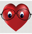 heart of love wearing glasses vector image