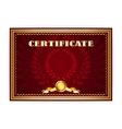 Horizontal old certificate with a laurel wreath vector image vector image