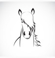 horse head design on white background vector image vector image