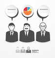 icons business people with dialog speech bubbles vector image
