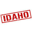 idaho red square stamp vector image vector image