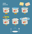 Instruction cooking Home Cooking Recipe cooking vector image vector image