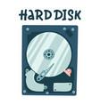 internal computer hard disk harddisk flat vector image