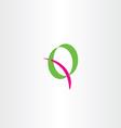 letter q green magenta logo design logotype vector image vector image