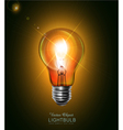 light bulb glowing in the dark vector image