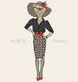Lioness dressed up chic style vector image vector image