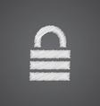 lock sketch logo doodle icon vector image vector image