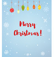 merry christmas card or background with snow and vector image vector image
