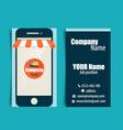 Modern business card template with Business vector image vector image