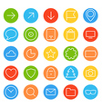 Modern thin color web icons collection vector image vector image