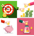 money saving concept business design with money vector image vector image