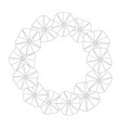 morning glory flower outline wreath vector image
