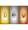 Oil liquid metal vector image vector image