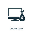 online loan icon creative element design from vector image vector image
