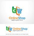 online shop logo template vector image