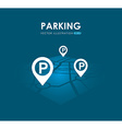 parking service design vector image vector image