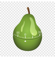 pear timer mockup realistic style vector image vector image