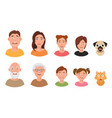 people facial emotions afraid fearful scared windy vector image